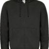 (PS) (01.0647) – B&C Hooded Full Zip men [black] (Front) (1)