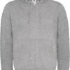 (PS) (01.0647) – B&C Hooded Full Zip men [heather grey] (Front) (1)