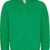 (PS) (01.0647) – B&C Hooded Full Zip men [kelly green] (Front) (1)
