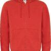 (PS) (01.0647) – B&C Hooded Full Zip men [red] (Front) (1)